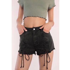 AVA Lace-Up Shorts